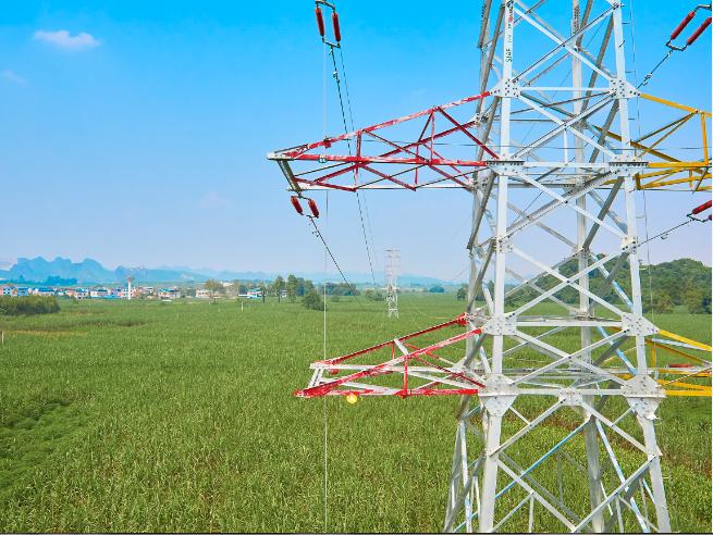 220kV渠黎变电站出线杆塔